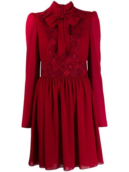 Sukienka długa z długimi rękawami z haftem Giamba