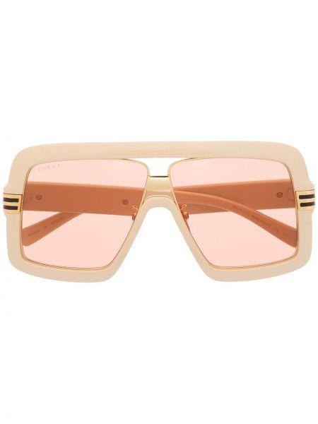 Pomarańczowe okulary Gucci Eyewear