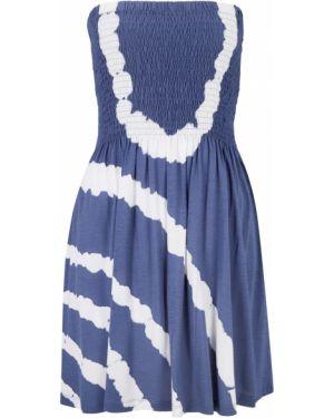Платье мини миди бандо Bonprix