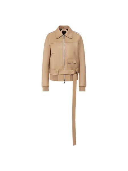 Кожаная куртка из полиуретана - бежевая No. 21