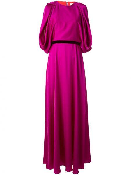 Вечернее платье розовое мини Roksanda
