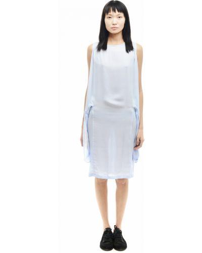 Платье миди с поясом из вискозы Ann Demeulemeester