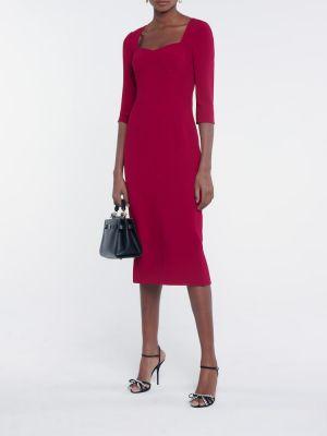 Красное платье-футляр из вискозы Dolce & Gabbana