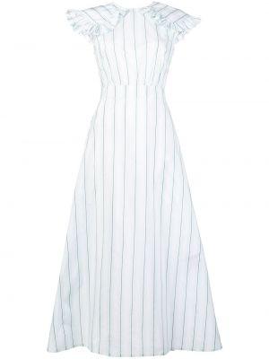 Sukienka z falbanami w paski z jedwabiu Calvin Klein 205w39nyc
