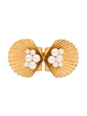 Spinka do włosów z perłami biały Jennifer Behr