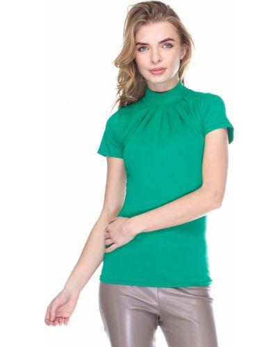 Водолазка с короткими рукавами - зеленая Vergans
