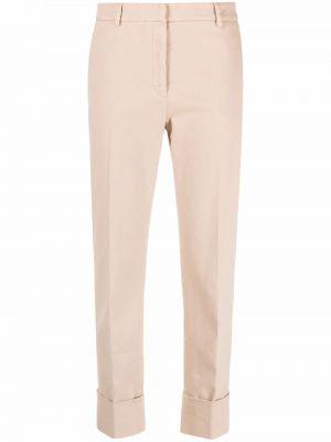 Beżowe spodnie bawełniane Antonelli