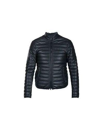Куртка демисезонная с воротником-стойкой в полоску Armani Jeans