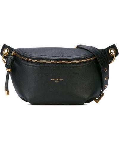 Кожаная сумка поясная на цепочке Givenchy