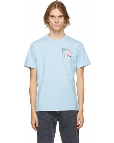 Niebieska t-shirt bawełniana Carne Bollente