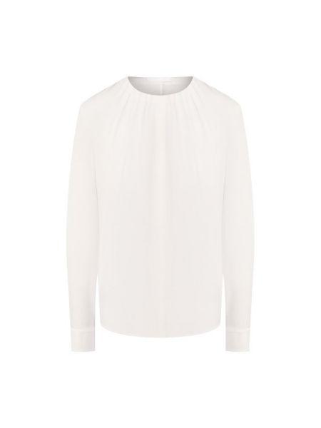 Шелковая деловая блузка с длинным рукавом на пуговицах для офиса Boss