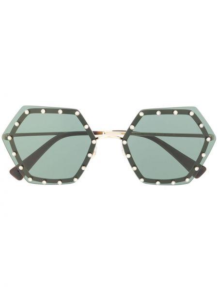 Муслиновые желтые солнцезащитные очки Valentino Eyewear
