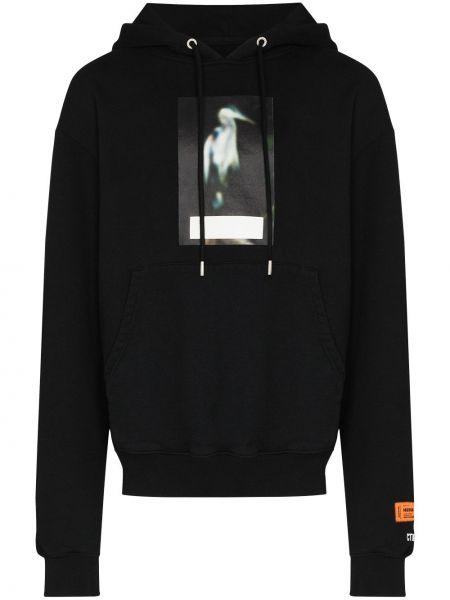 Bluza z nadrukiem z printem - czarna Heron Preston