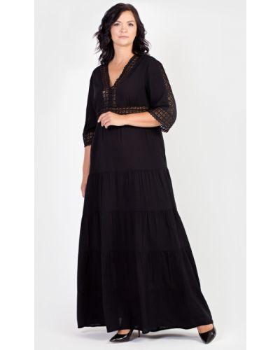 Летнее платье макси из штапеля Filigrana