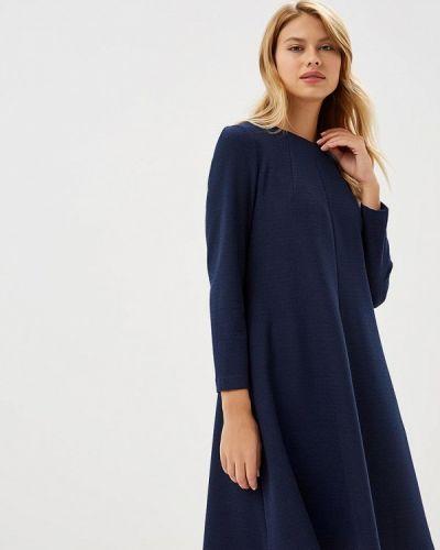 Платье осеннее синее Akimbo