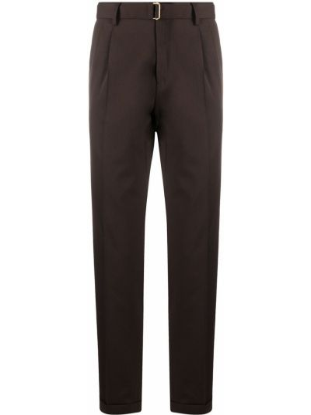 Spodni brązowy wełniany przycięte spodnie z kieszeniami Briglia 1949