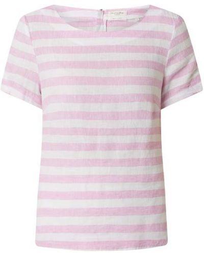 Różowa bluzka w paski krótki rękaw Christian Berg Women