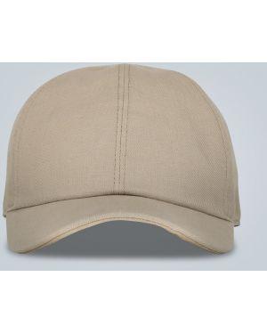 Бейсбольная бежевая шляпа классическая с подкладкой из натуральной кожи Loro Piana