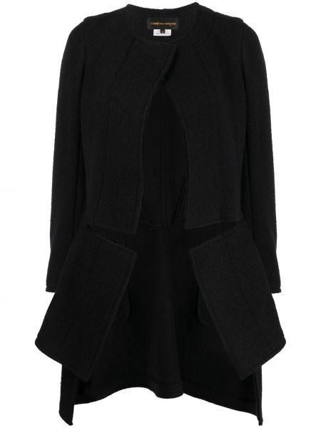 Шерстяная черная длинная куртка круглая Comme Des Garçons