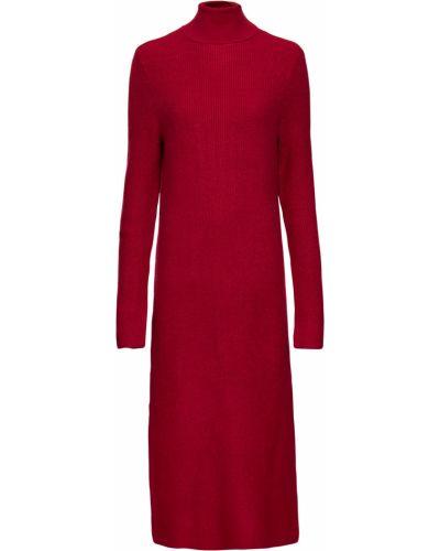 Вязаное платье макси - красное Bonprix