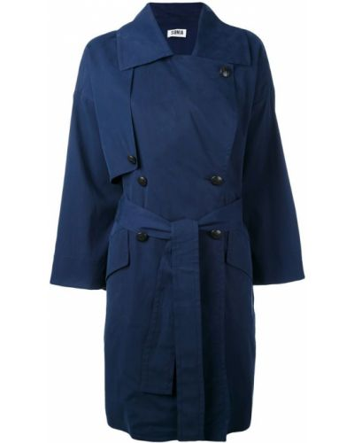 Синее пальто с капюшоном Sonia By Sonia Rykiel
