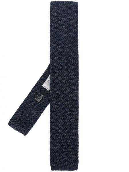 Krawat jedwab niebieski Canali
