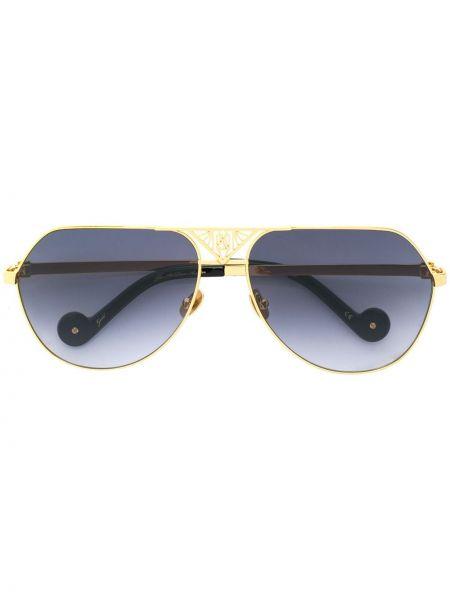 Желтые солнцезащитные очки металлические Anna Karin Karlsson