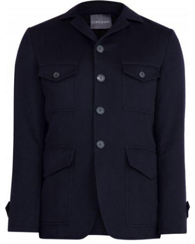 Укороченное пальто итальянское шерстяное Cortigiani
