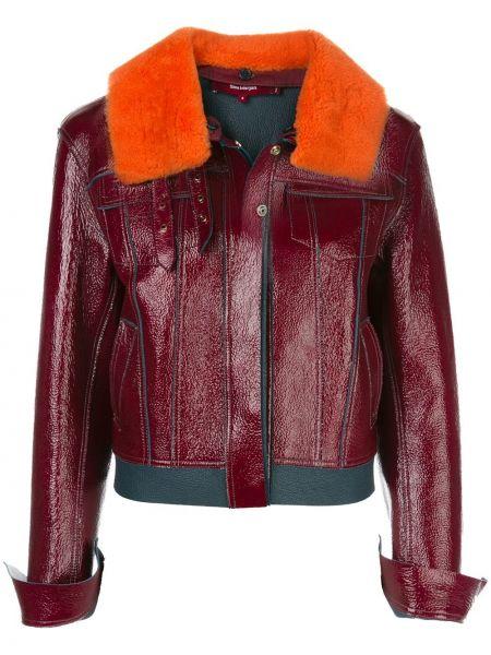 Красная кожаная куртка с воротником Sies Marjan