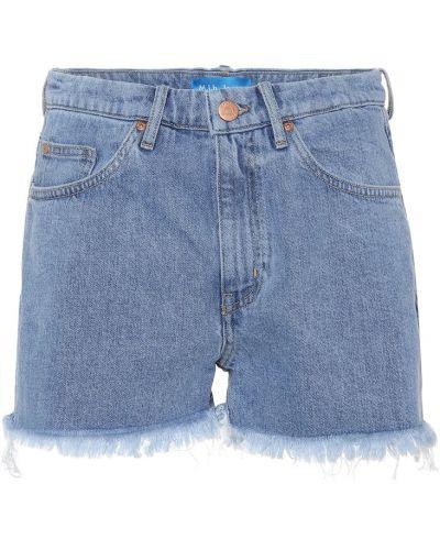 Джинсовые шорты со стразами Mih Jeans