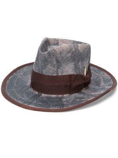 Соломенная коричневая шляпа с широкими полями свободного кроя Nick Fouquet