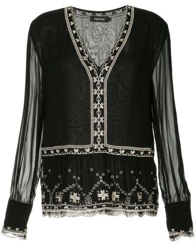 Блузка с длинным рукавом с расклешенными рукавами с вышивкой Magali Pascal