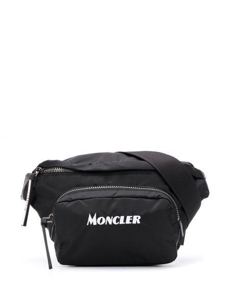 Нейлоновый черный тонкий ремень свободного кроя с поясом Moncler