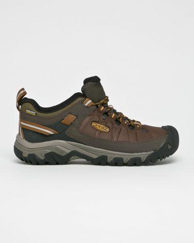 Кожаные ботинки мембранные на шнуровке Keen