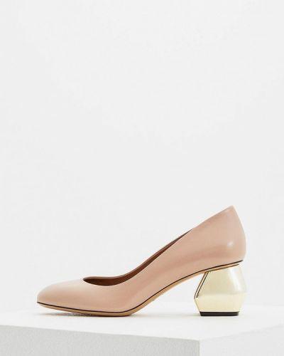 Бежевые туфли для офиса Emporio Armani