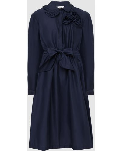 Синее платье миди Lanvin