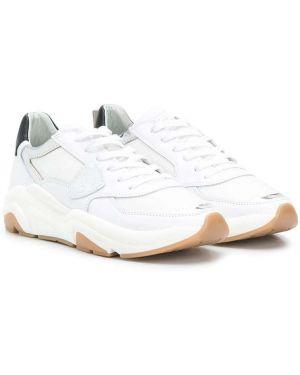 Skórzane sneakersy z logo czarny i biały Philippe Model Kids