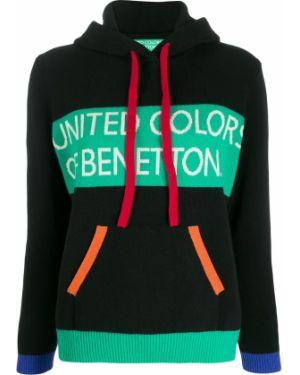 Свитер с капюшоном длинный Benetton