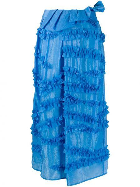 Spódnica ołówkowa z wysokim stanem niebieska Christian Wijnants