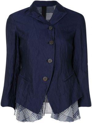 Шелковый синий пиджак с воротником Forme D'expression