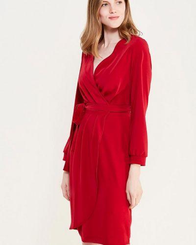 Красное платье с запахом Rinascimento