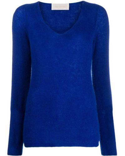 Синий джемпер с вырезом Chiara Bertani