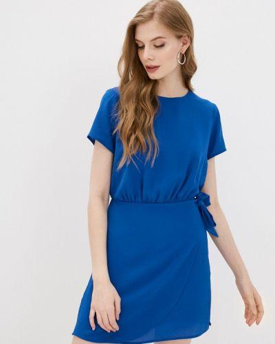 Прямое синее джинсовое платье Pepe Jeans