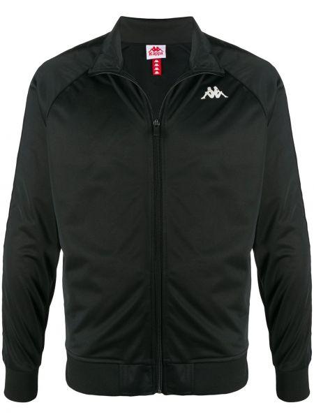 Длинная куртка черная с манжетами Kappa