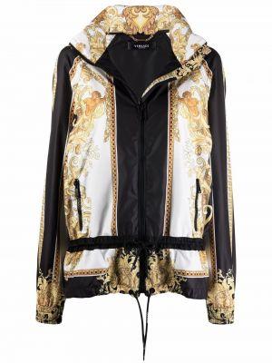 Белая куртка с принтом Versace