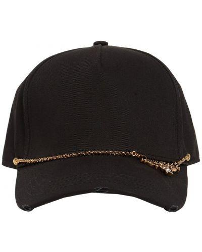 Czarna czapka bawełniana Dsquared2