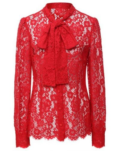 Красная блузка из вискозы Dolce & Gabbana