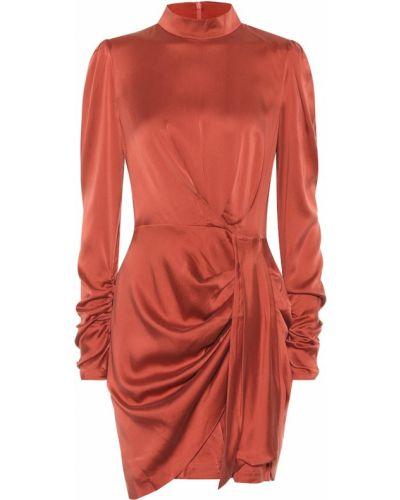 Вечернее платье шелковое с мехом Zimmermann