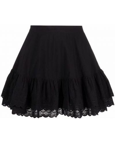 Черная хлопковая юбка Maison Bohemique