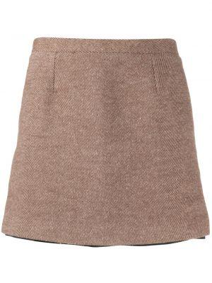 Коричневая прямая с завышенной талией юбка мини на пуговицах Opening Ceremony